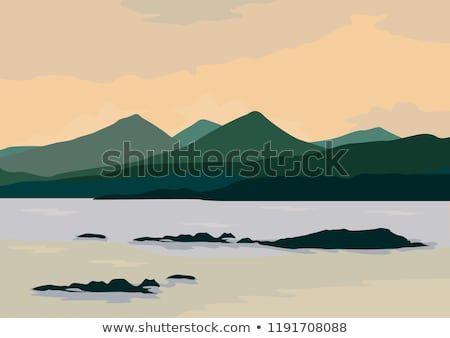 Ocean Landscape Flat Illustration Flatdesign Design Shutterstock Illustration Graphicdesign