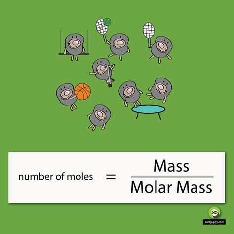 How to calculate the number of moles? The formula for the number of moles is mass divided by molar mass.