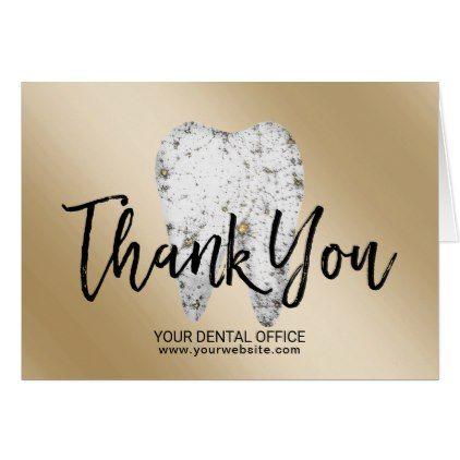Dental Office Dentist Modern Gold Thank You Zazzle Com Dental Office Dentist Dental