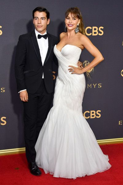 Manolo Gonzalez Vergara and actor Sofia Vergara attend the 69th Annual Primetime Emmy Awards at Microsoft Theater.