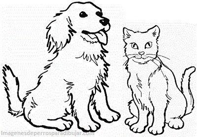 Dibujos Infantiles De Perros Y Gatos Juntos En Caricaturas Kot
