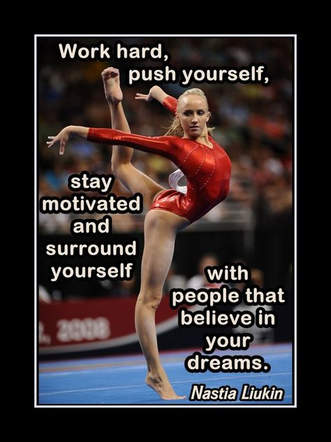Gymnastics Gift Wall Art, Inspirational Gym Wall Decor, Champion Quote Poster, Photo, Kids, H...