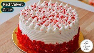 Eggless Red Velvet Cake Recipe Without Oven The Terrace Kitchen Redvelvetcake Eggless Red In 2020 Velvet Cake Recipes Red Velvet Cake Recipe Eggless Red Velvet Cake