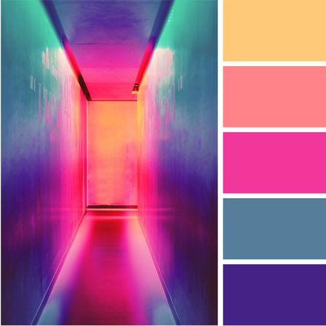Bright + Bold Color Palettes for Your Brand — Alyson Agemy Neon Colour Palette, Color Schemes Colour Palettes, Movie Color Palette, Bright Color Schemes, Beach Color Palettes, Color Schemes Design, Modern Color Palette, Palette Design, Palette Art