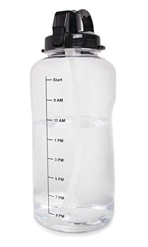 1 Gallon 128oz Water Bottle With A Straw Motivational Https Www Amazon Com Dp B07cyjw9sv Ref Water Bottle With Times Gallon Water Bottle Water Bottle
