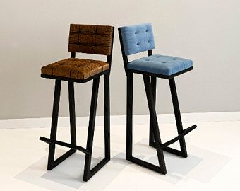 Modern Bar Stool Hocker Z Solid Industrial Loft In 2020