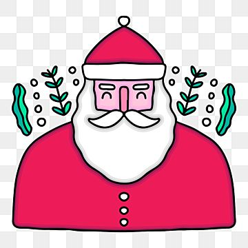 Santa Claus Doodle Illustration For Poster Sticker Or Apparel Winter Christmas Holiday Png And Vector With Transparent Background For Free Download Doodle Illustration Poster Stickers Merry Christmas Poster