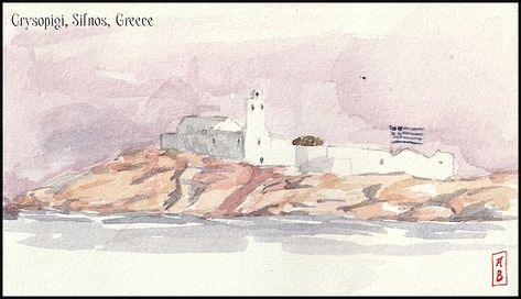 Crysopigi, Sifnos, Greece by Javier Gonzalez de Castejon