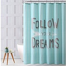 Vcny Home Follow Your Dreams Shower Curtain In Aqua Curtains