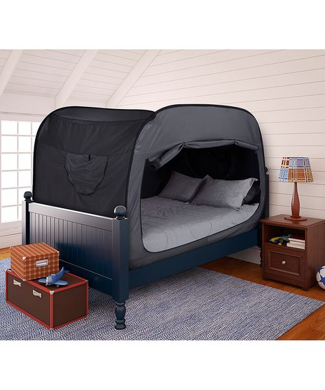 Privacy Pop Tent - kids would probably love having this. It's like camping in your very own bed, yet they are tucked in safe and sound right in their own home.