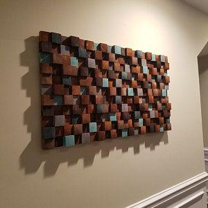 Wooden Mosaic Decor Modern Wood Wall Art Organic Wall Art Reclaimed Wall Art Environment Wall Art In 2020 Wood Wall Art Wood Wall Wooden Wall Art