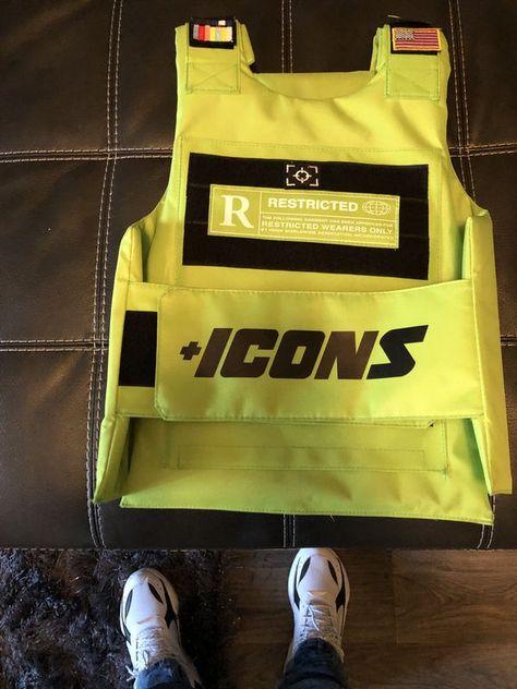 Icons vest slime green