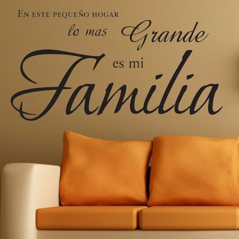 Inspirational Quote Wall Art Vinyl Decals Spanish Family Quote in Clas – NordicWallArt.com