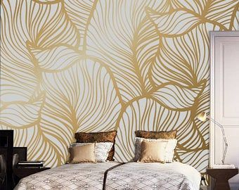 Polina Bright Handmade Etsy Uk Removable Wallpaper Wall Wallpaper Floral Wall Decals