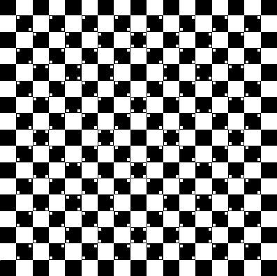 efecto óptico del Café de Escher