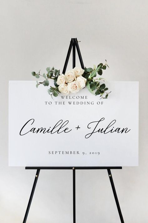 Classic Script Wedding Welcome Sign Template, Ceremony Reception Printable, Instant Ceremony Signs, Reception Signs, Wedding Signage, Wedding Fonts, Wedding Reception, Printable Wedding Invitations, Wedding Stationery, Stationery Paper, Classic Fonts