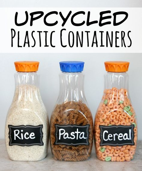 Upcycled Plastic Containers to use in your Pantry