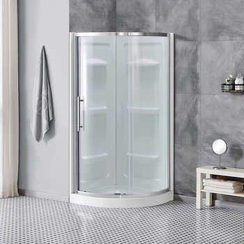 Ove Sheffield 60 Tempered Glass Shower Door In 2020 Corner Shower Corner Shower Enclosures Glass Shower Doors
