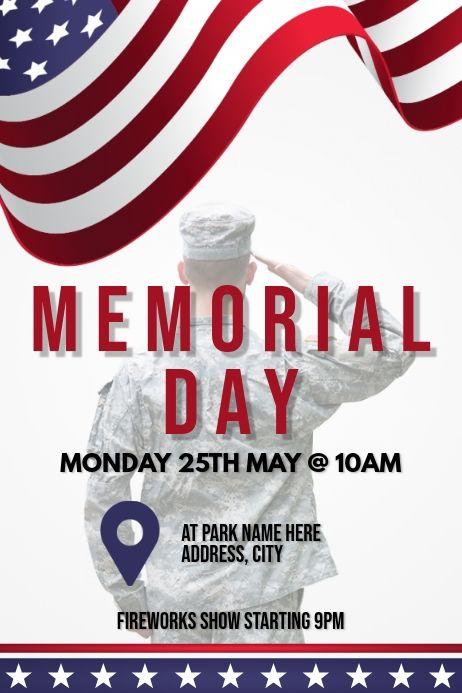 Template Memorial Day In 2021 Veterans Day Memorial Day Poster Template