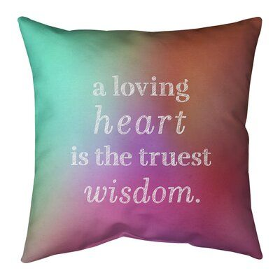 Quote Pillow Cover