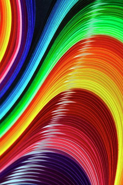 Curves Of Colored Paper Art Print By Image By Catherine Macbride Rainbow Colors Abstract Rainbow