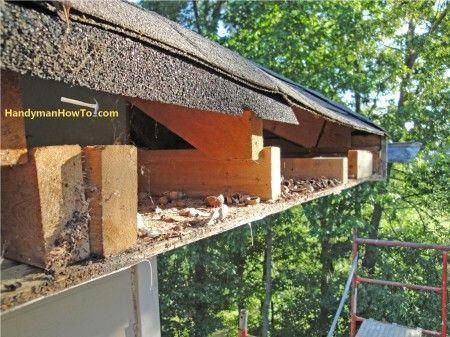 How to Repair Rotted Soffit and Fascia photo tutorial. Install a new plywood soffit and PVC fascia board.