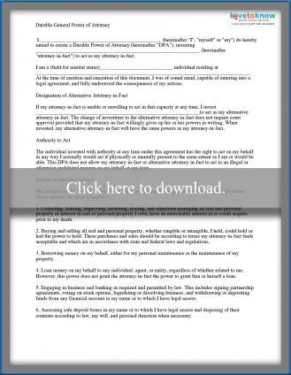 Free Forms For Living Trust And Will Power Of Attorney Form