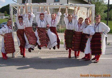 """Baranja costumes (KUD """"Veseli Prigorci"""", Jesenovec) Croatia"""