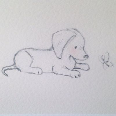 How To Draw A Labrador Golden Retriever Puppy Easy Youtube