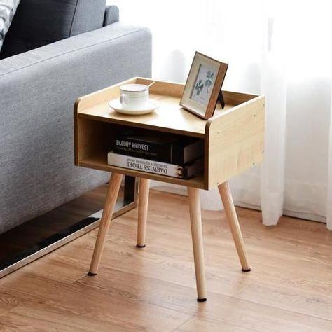 Giantex Table De Chevet Table D Appoint Table Basse En Bois Niche