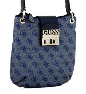 Logo Luxe Mini Blue Guess Crossovertasche Logodruck blau in