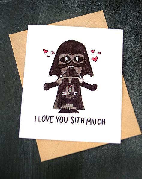 star wars valentine's day card darth vader  i love you