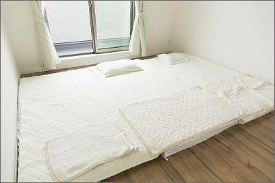 我が家は布団生活 片付けたくなる部屋づくり 片付けたくなる部屋づくり 布団 寝室