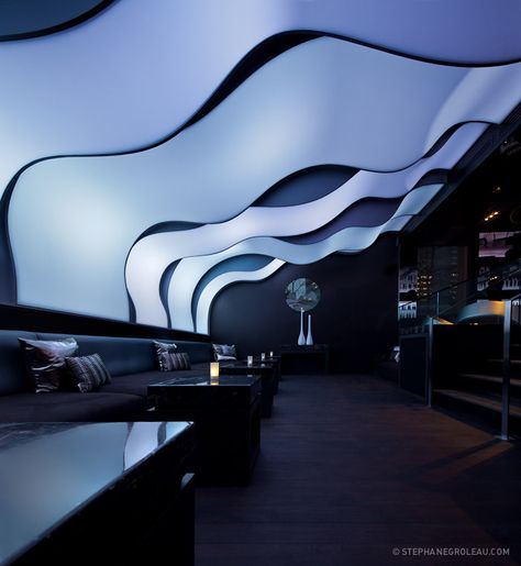W Hotel Montreal - Wunderbar by Stephane Groleau, Futuristic Interior Design, Colorful: