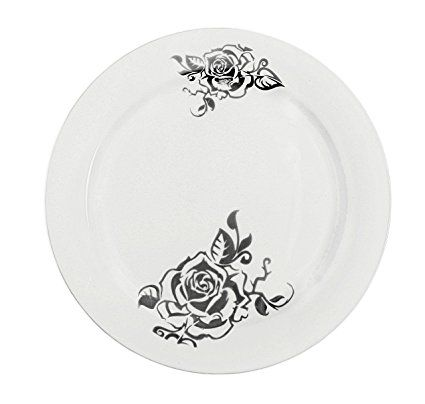 Table To Go I Can T Believe It S Plastic 200 Piece Plate Set 100 10 Dinner Plates And 100 7 5 Salad Plates Flower Design W Dinner Plates Plates Plate Sets