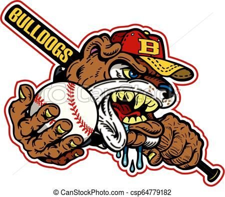 Bulldog Baseball Vector Stock Illustration Royalty Free Illustrations Stock Clip Art Icon Stock Clipart Icons Logo L Baseball Vector Art Icon Vector Art
