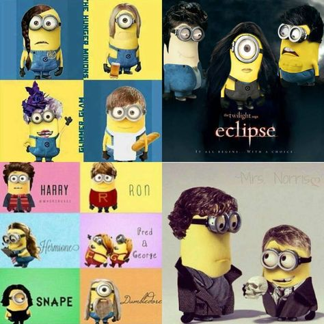 Minions in The Hunger Games, Harry Potter, Twilight and Sherlock