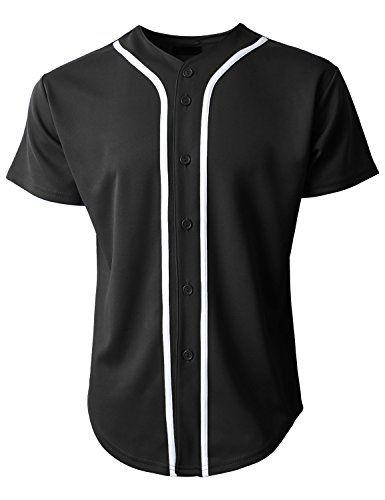 half off 3b678 d5254 Hat and Beyond KS Mens Baseball Jersey Button Down T Shirts ...