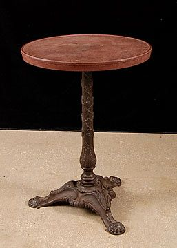 French Antique Cast Iron And Bakelite Bistro Table Marked Veriere Cour De  Damoye Paris | I Have A New OLD Pedastal Ideas | Pinterest | Bistro Tables,  ...