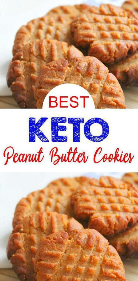 Low Carb 3 Ingredient Peanut Butter Cookie Idea – Quick & Easy Ketogenic Diet Recipe – Completely Keto Friendly - CHECK out these EASY 3 Ingredient Keto Peanut Butter Cookies! These 3 ingredient peanut butter cook - Recipes snacks Keto Cookies, Keto Peanut Butter Cookies, Healthy Cookies, Low Sugar Cookies, Sugar Free Peanut Butter, Biscuits Keto, Cookies Et Biscuits, Keto Pancakes, Keto Desserts
