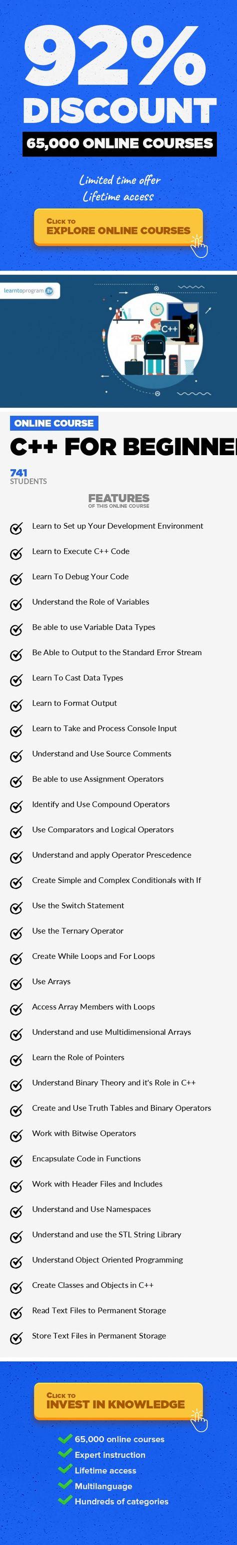 C++ for Beginners Programming Languages, Development Create