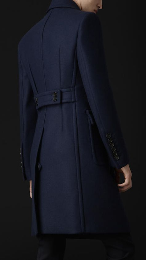 Beautiful Heavy Wool Felt Tailored Coat x Burberry Prorsum