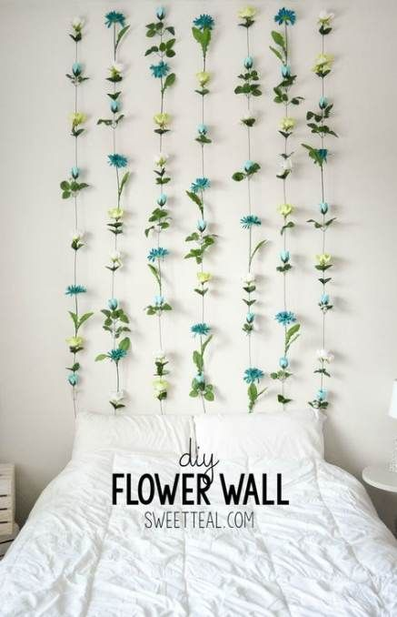 Wall Decored Diy Bedroom Ideas Headboards 40 Ideas Diy Flower Wall Bedroom Diy Wall Decor Bedroom Flower wall decor for bedroom