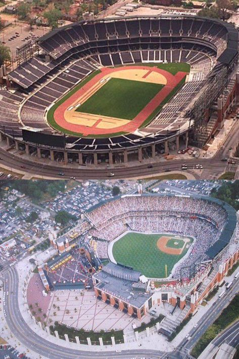 Turner Field Olympic Stadium Conversion Google Search Baseballmlb Stadium Baseball Stadium Turner Field