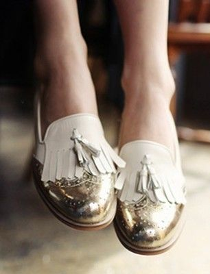 Fun tassel loafers