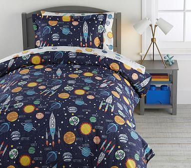 Solar System Glow In The Dark Duvet Cover Dark Bedding Duvet
