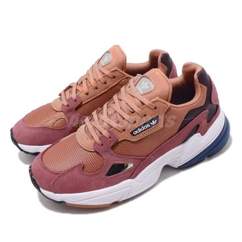 info for f1cab 00b99 adidas Originals Falcon W Raw Pink Blue White Women Casual Shoes Sneakers  D96700