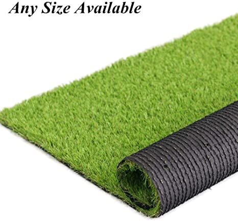 Fas Home Artificial Grass Turf 1 38 Quot Custom Sizes Fake Grass Indoor Outdoor Rug Synthetic Lawn Carpet Faux G Faux Grass Synthetic Lawn Grasses Landscaping