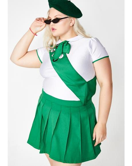 Plus Size Halloween Costumes 2019.Catch Hell Scout Costume Dollskill Curve Plus Halloween Costume