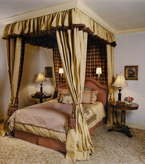 Guest Bedroom Romantic Bedroom Design Canopy Bed Curtains